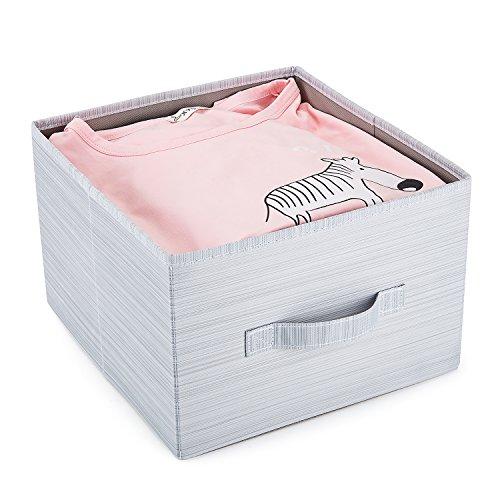 Meelife abnehmbarer klappbar Schrank Truhen von Schublade Kleidung Organizer dickem Karton Boards Innen Anzug für Kleidung Pullover Schuhe (Kommode Hellgrau)