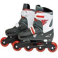 SK8 Zone Boys Red Roller Blades Inline Skates Adjustable Size Childrens Kids Pro Skating New