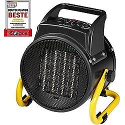 Bomann HL 1120CB Radiateur en céramique, modulateur à 4 niveaux, thermostat réglable en continu, 2niveaux de chauffe (1000/2000W), fonction ventilateur