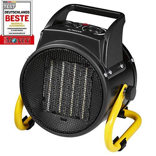 Bomann HL 1120CB-Calefactor de cerámica, 4niveles de interruptor, termostato regulable, 2niveles...