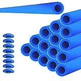 Markenlos 16x Trampolin Schaumstoff ROHRE Polster 82cm für 8 STANGEN SICHERHEITSNETZ Netz inkl Kappen