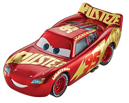 "Cars 3 Disney Coche de juguete ""Rust-Eze Racing Center Lightning Mcqueen""- Die-Cast - (Mattel DXV45)"