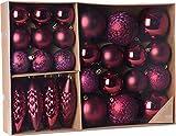 made2trade 31 teiliges Weihnachtsbaumschmuck Set - Bordeaux