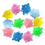 Waschbälle, Cuitan Wäsche Wäscherei-Ball Wiederverwendbarer Waschkugel Anti-Winding Dekontamination Waschmaschine Waschen Ball 12 Stück (Zufällige Farbe)