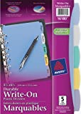 Best Avery Dividers - Avery Mini Plastic Durable Write-On Dividers, 5.5 x Review