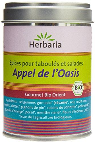 Herbaria Appel de l'Oasis Epices  Bio pour Taboulés et Salades Boîte