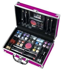 COLOR WORKSHOP Coffret Bon Voyage Mallette de Maquillage en Aluminium Rose