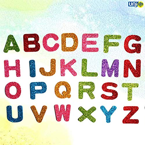 Selling Uniqness UNIq 90 Pieces Glitter Foam Stickers 26 English Alphabet Letter Wall Decals Self Adhesive Wall Art Murals for Kids Arts Craft/Nursery Class/Bedroom/Living Room