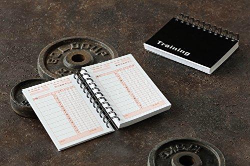 Trainingstagebuch für das Krafttraining mit 200 Seiten (Schwarzes Cover)