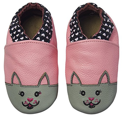 df73f111e93e8 Rose   Chocolat Chaussures Bébé Sweetheart Kitty Rose Taille 18 19 cm 0-6