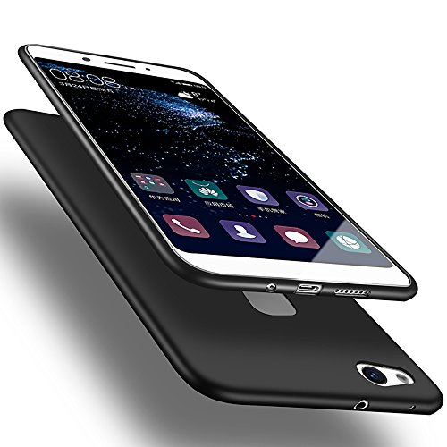 X-level Huawei P10 Lite Hülle, [Guadian Serie] Soft Flex Silikon Premium TPU Echtes Telefongefühl Handyhülle Schutzhülle für Huawei P10 Lite Case Cover [Schwarz]
