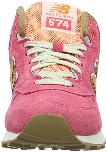 New Balance 574 Mid, Sneakers Hautes Femme Rose (Pink)