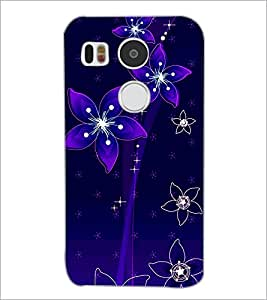 PrintDhaba Floral Pattern D-1237 Back Case Cover for LG NEXUS 5X (Multi-Coloured)