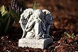 Grabschmuck Engel auf Sockel, mit Inschrift, frost- und wetterfest, handgearbeitet