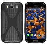 mumbi X-TPU Silikon Schutzhülle für Samsung Galaxy S3 i9300 / S3 Neo Hülle schwarz halbtransparent