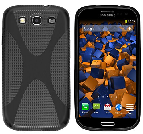 Mumbi - Custodia in silicone e X-TPU per Samsung Galaxy S3 i9300, Nero semitrasparente