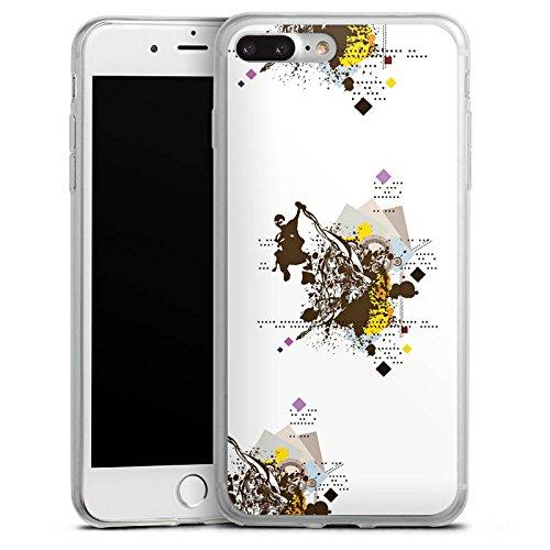 Apple iPhone X Slim Case Silikon Hülle Schutzhülle Graffiti Sprayen Zeichnung Silikon Slim Case transparent