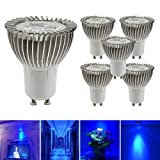 greensun lampade LED Lighting Lampada Riflettore 3W lampada LED luce lampada Spot faretto luce lampada lampadina lampada lampadine lampadina alogena, Blu, GU10, 3.0W, 220.0V
