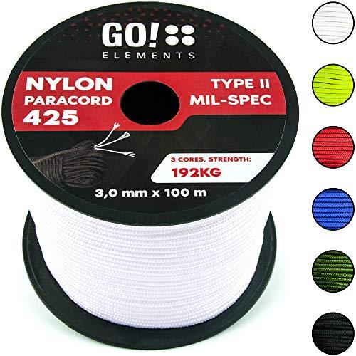 GO!elements 100m Cuerda Paracord Nylon Resistente