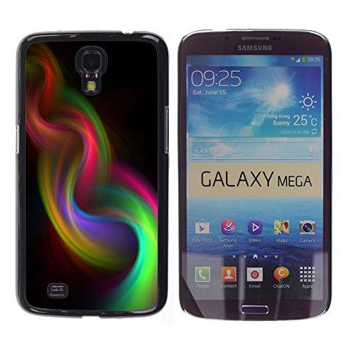 YOYOYO Schwarz Hart Verteidiger Handy Schutz Hülle Bild Etui Case Schale Cover für Samsung Galaxy Mega 6.3 I9200 SGH-i527 - Rauch schillernden lila Webart 420