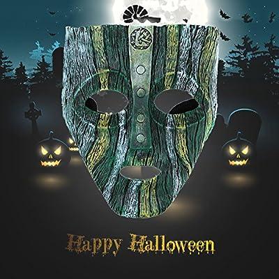Bluelover Película De Alto Grado Tema Disfrazado Geek Resina Máscara Halloween Fiesta Decoraciones Suministros por Bluelover