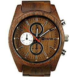 Holz Armbanduhr Niagara Nut