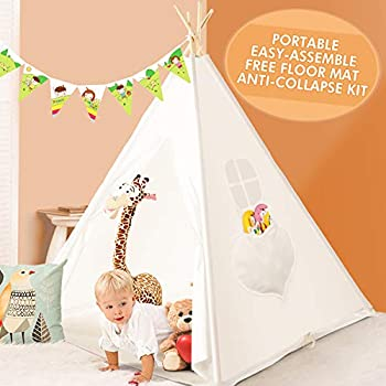 For Children Great For Summer Fun In Garden /& Indoors Tipi Style Mountain Warehouse Teepee Kids Unicorn Play Tent Wigwam