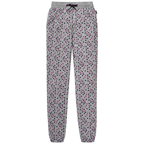 Schiesser Mädchen Schlafanzughose Mix&Relax Jersey Pants Grau (Grau-Mel. 202), 140 (Gerippte Jersey Herrliche)