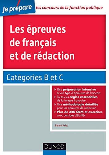 Les épreuves de français et de rédaction - Catégories B et C
