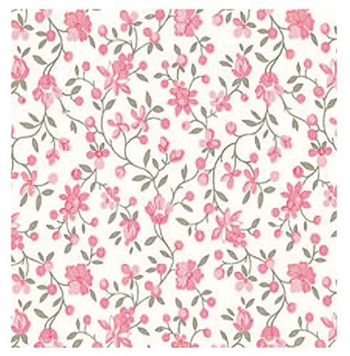 i.stHOME Klebefolie Möbelfolie - Blumen rosa - Blumenranken - Dekorfolie - Selbstklebefolie Rosen -...