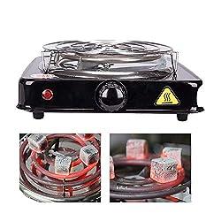 RMAN® 1000W Shisha Elektrischer Kohleanzünder Kohlebrenner Kochplatte für Wasserpfeife Barbecue Kohle - Schwarz