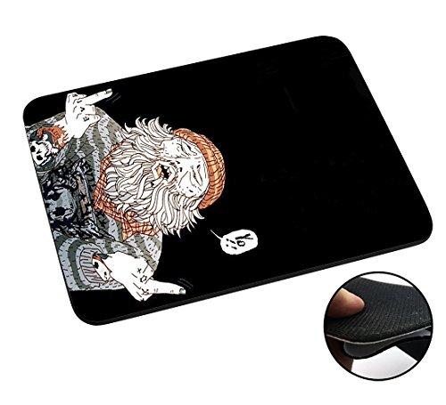 Preisvergleich Produktbild 002850 - HOBO Middle Fingers FCK Fuck You Design Macbook PC Laptop Anti-slip Mousepad Mouse Mat Tpu Leather Stark haftende Unterseite für optimalen Halt