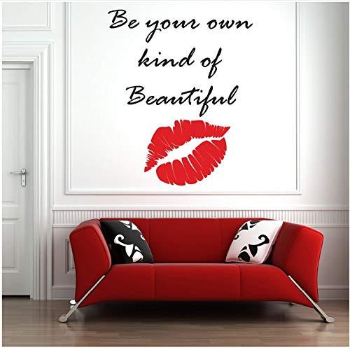 75 * 78 CM Make-Up Lippen Schönheitssalon Dekoration Kosmetik Bilden Künstler Wandtattoo Vinyl Lippen Fenster Wandbilder Große Größe ()