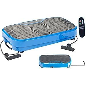 newgen medicals Vibrationsbrett: Breite Vibrationsplatte, 300 Watt, 20 Frequenzen, Fernbedienung, Timer (Fitness-Vibrationsplatte)