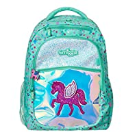 Smiggle Believe Kids School Backpack for Girls & Boys with Laptop Compartment | Unicorn Print