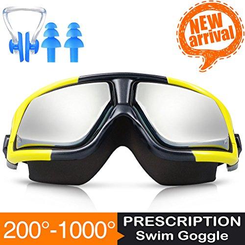 [Nuovo Arrivo] ZIONOR Manatee G3 Prescrizione Ottica Miope Occhialini da Nuoto con Naso Clip Tappi (Nuovo D & G Degli Occhiali)