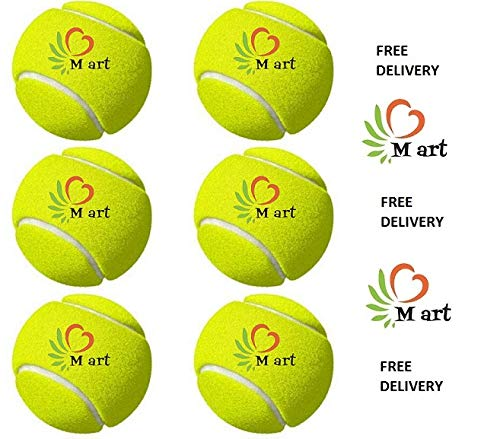 M ART Tennis Ball Light Weight Green Color,(Pack of 6)