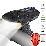 LED-bicicletta-luce-Luci-Bicicletta-LED-Ricaricabili-USB-con-1200-lumen-Resistente-allacqua-IP65-Luci-per-Bicicletta-Intelligente-5-Modalit-LED-per-Bici-Strada-e-Montagna-Sicurezza-per-Notte