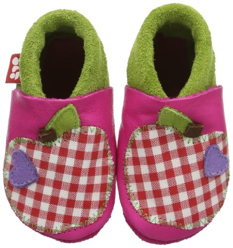 Pololo Apfel, Chaussons Mules Doublé Chaud Fille Rose (pink 422)