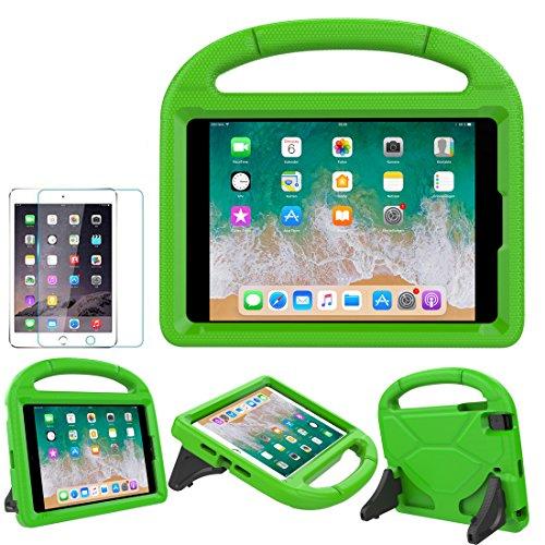 Soweiek iPad Mini 1/2/3/4 Hülle für Kinder,Superleicht Stoßfest Ständer Schutzhülle Cover Case mit Displayschutz für Apple iPad Mini 7.9 Zoll Tablet, Grün