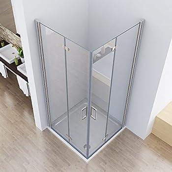 i flair faltt r duschkabine 75x75x190 cm aus sicherheitsglas esg ohne duschwanne alle. Black Bedroom Furniture Sets. Home Design Ideas