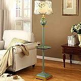 Europäische Art mit Kaffeetisch-Platten-Fußboden-Lampen-Wohnzimmer-Luxuxlandhaus-amerikanische Retro- Kaffee-Tabellen-Fußboden-Lampen-Studie Einfache moderne Hochzeits-Beleuchtung (mehrfarbige wahlweise freigestellte Anstrich-Farbe) ( farbe : 1001 )
