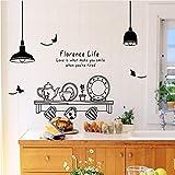 mznm Schrank Kaminofen Küche Wand Aufkleber Geschirr Wand zu entfernen für Küche Aufkleber Fliesendekor Aufkleber kann die Home Decor
