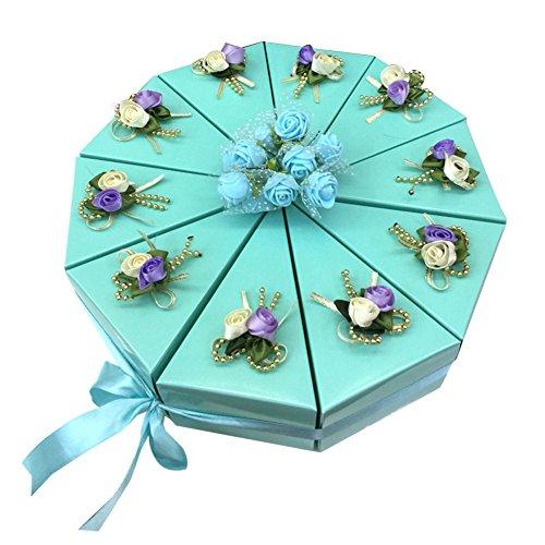 Meigold - Caja de regalo triangular para dulces, para bodas, galletas, chocolate, pasteles, pasteles, festivales, fiestas, 1 grupo