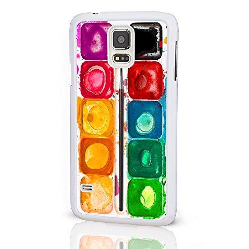 Künstler Kollektion Handy Fällen für das Samsung Galaxy Serie. Aquarells Palette Farbstift Hartschale für Galaxy Modelle von icasedesigner, plastik, Paint Palette on a White Background, Galaxy Note 4