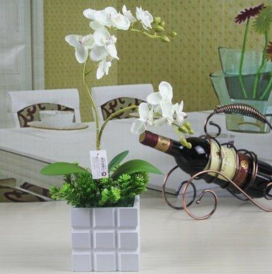 XPHOPOQ flor artificial sencillo elegante Phalaenopsis orquídeas macetas plantas Jarrones Creatividad home...