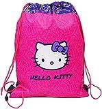 Unbekannt  Hello Kitty  - Sportbeutel / Turnbeutel / Schuhbeutel - wasserabweisend abwischbar für Kinder / Schulbeutel Kindergarten Mädchen Gymnastikbeutel Sporttasch..