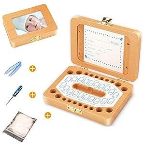 Milchzähne Box,Zahnbox Zahndose Milchzahndose,Zahndöschen für Kinder,Milchzahn box,100% handgefertigt mit Holz,Zahnbox…