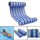 OUTERDO Amaca Gonfiabile, letto gonfiabile per piscina nuoto e matela gonfiabile sedia lunga gonfiabile piscina di lusso per l' estate blu