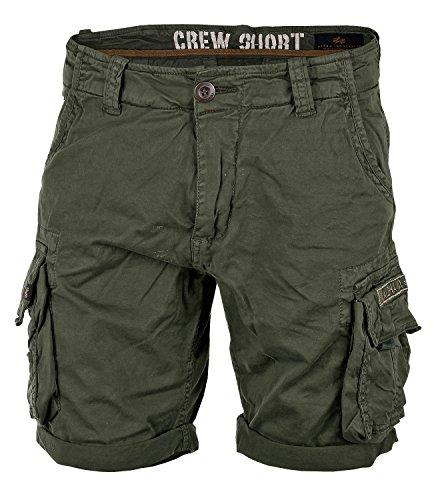 Alpha Ind. Crew Shorts dark oliv - 33